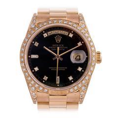 Rolex Diamond Day-Date 18138 with Rare Bezel Circa 1988