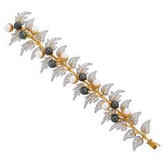 Jean Schlumberger For Tiffany & Co. Pearl and Diamond Bracelet