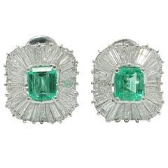 Emerald Diamnd ballerina earrings.