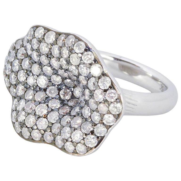 Rodney Rayner Pave 3.26 ct Diamonds 18 kt White Gold Ring