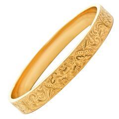 Wordley Allsopp & Bliss Gold Bangle Bracelet