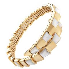 Bulgari Serpenti Mother of Pearl Gold Bracelet