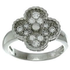 VAN CLEEF & ARPELS Vintage Alhambra Diamond White Gold Ring