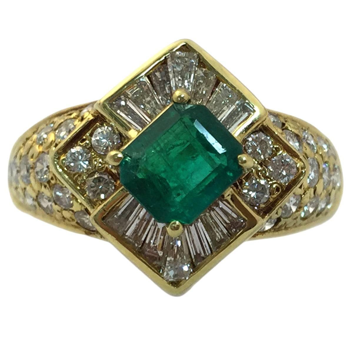 emerald gold ring for sale at 1stdibs