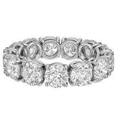 Round Brilliant GIA Cert Diamond Platinum Eternity Band Ring