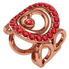 Vasily Baglaenko and Sparkles Ruby and Gold Ring