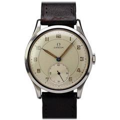 Omega Stainless Steel Dress Wristwatch