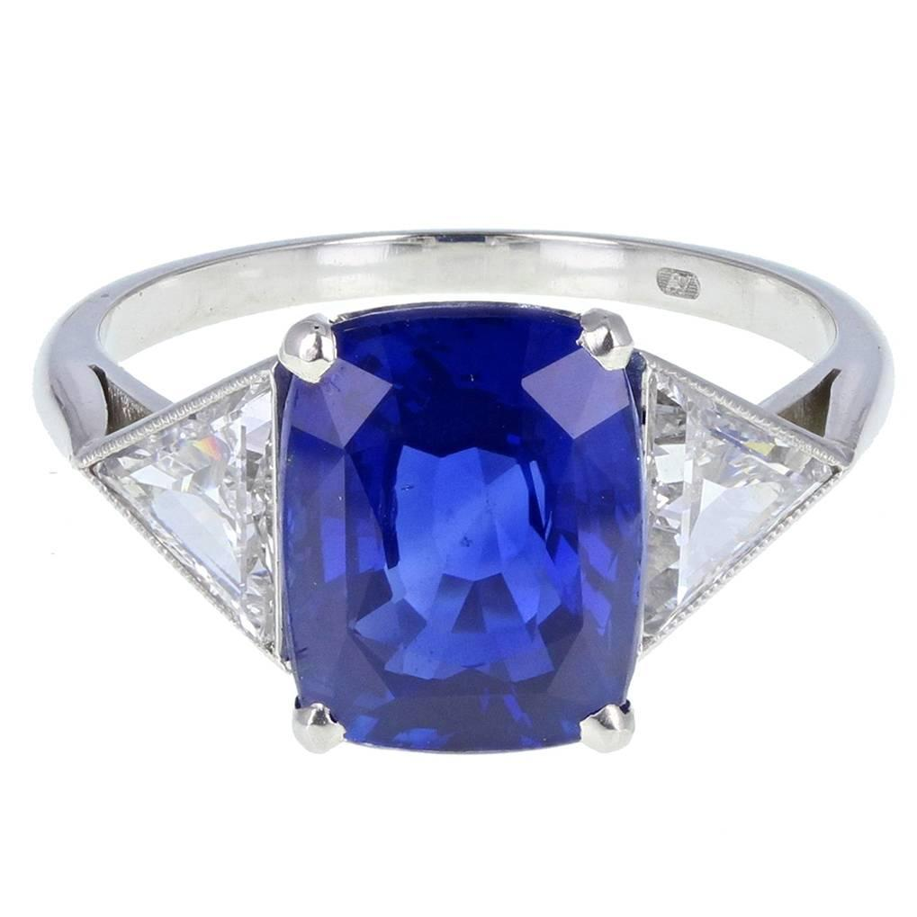 untreated blue engagement g a rings appraisal oval ceylon cut sapphire gia natural ct ring ii