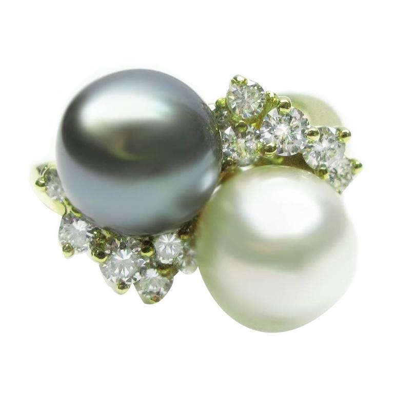 Kurt Wayne South Sea Pearl Diamond Gold Ring