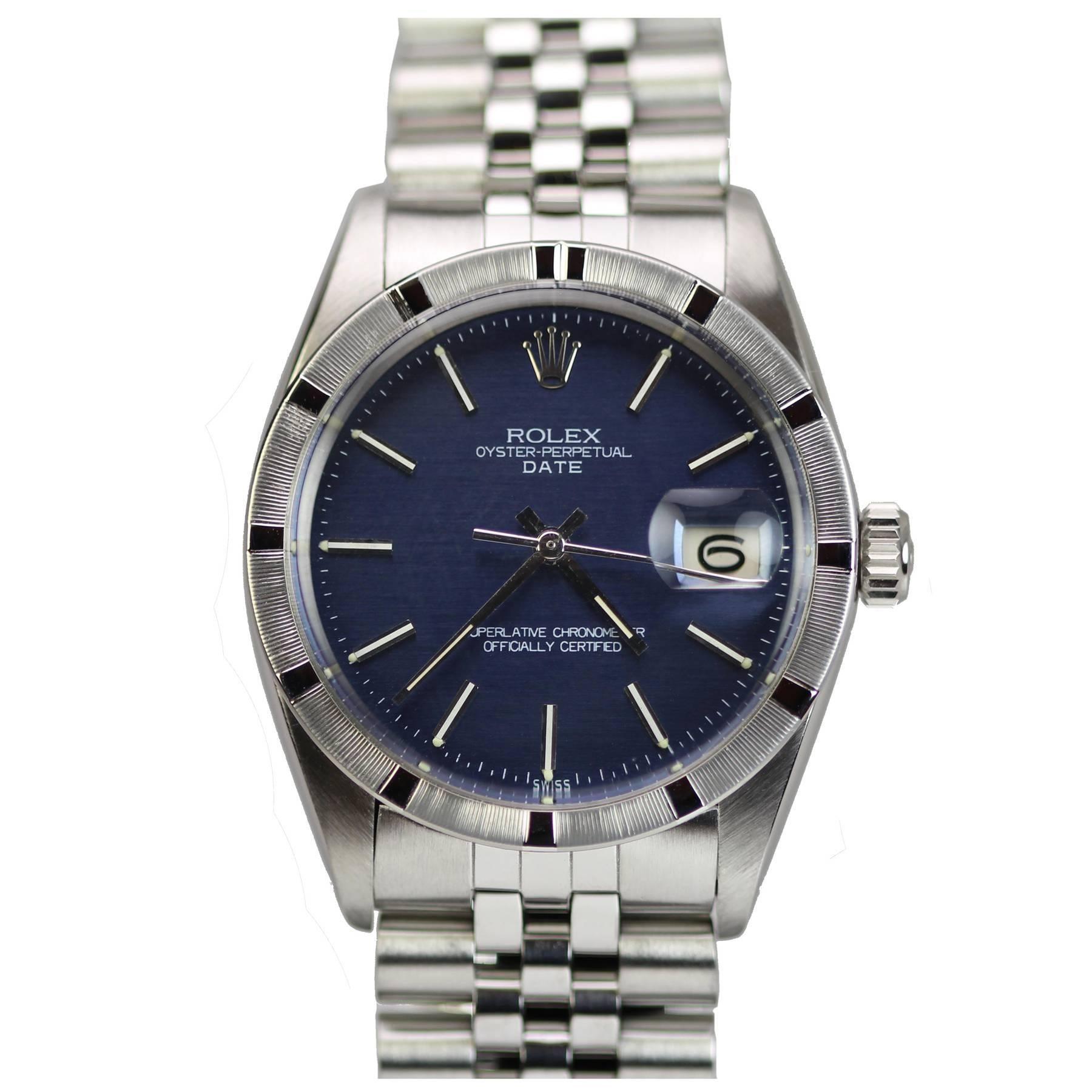 Rolex Stainless Steel Date Wristwatch Ref 1501 circa 1967