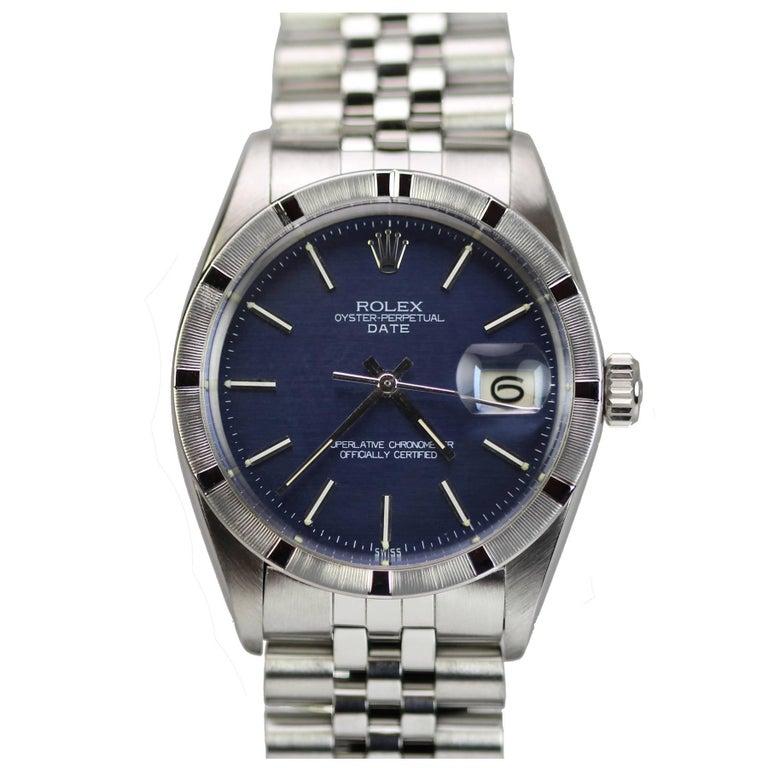 Rolex Stainless Steel Date Wristwatch Ref 1501 circa 1967 For Sale