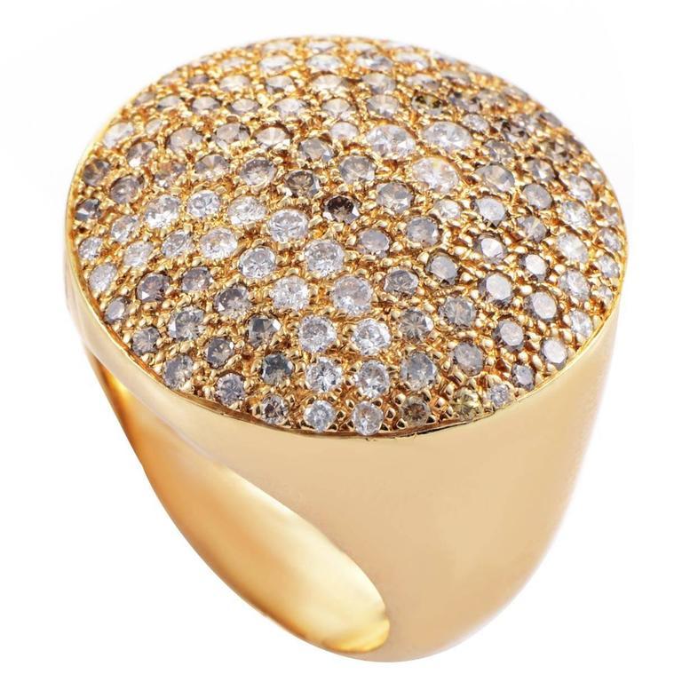 Cartier Diamond Pave Gold Ring 1
