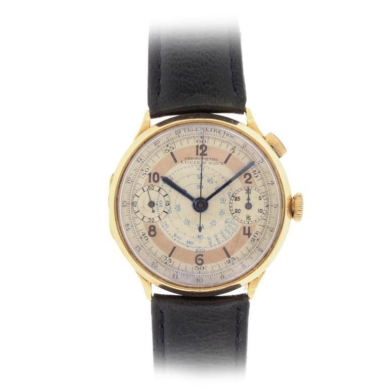 Swiss Single Button Chronograph Wristwatch