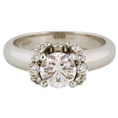 1.03 Carat GIA Cert Diamond Gold Engagement Ring