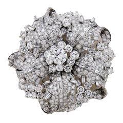 Bulgari Diamond Platinum Brooch