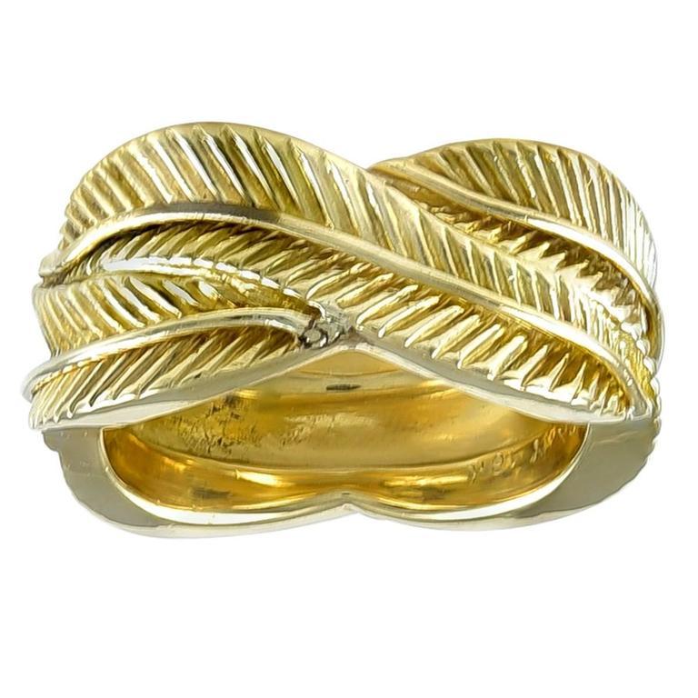 Van Cleef & Arpels Wide Gold Eternity Band Ring
