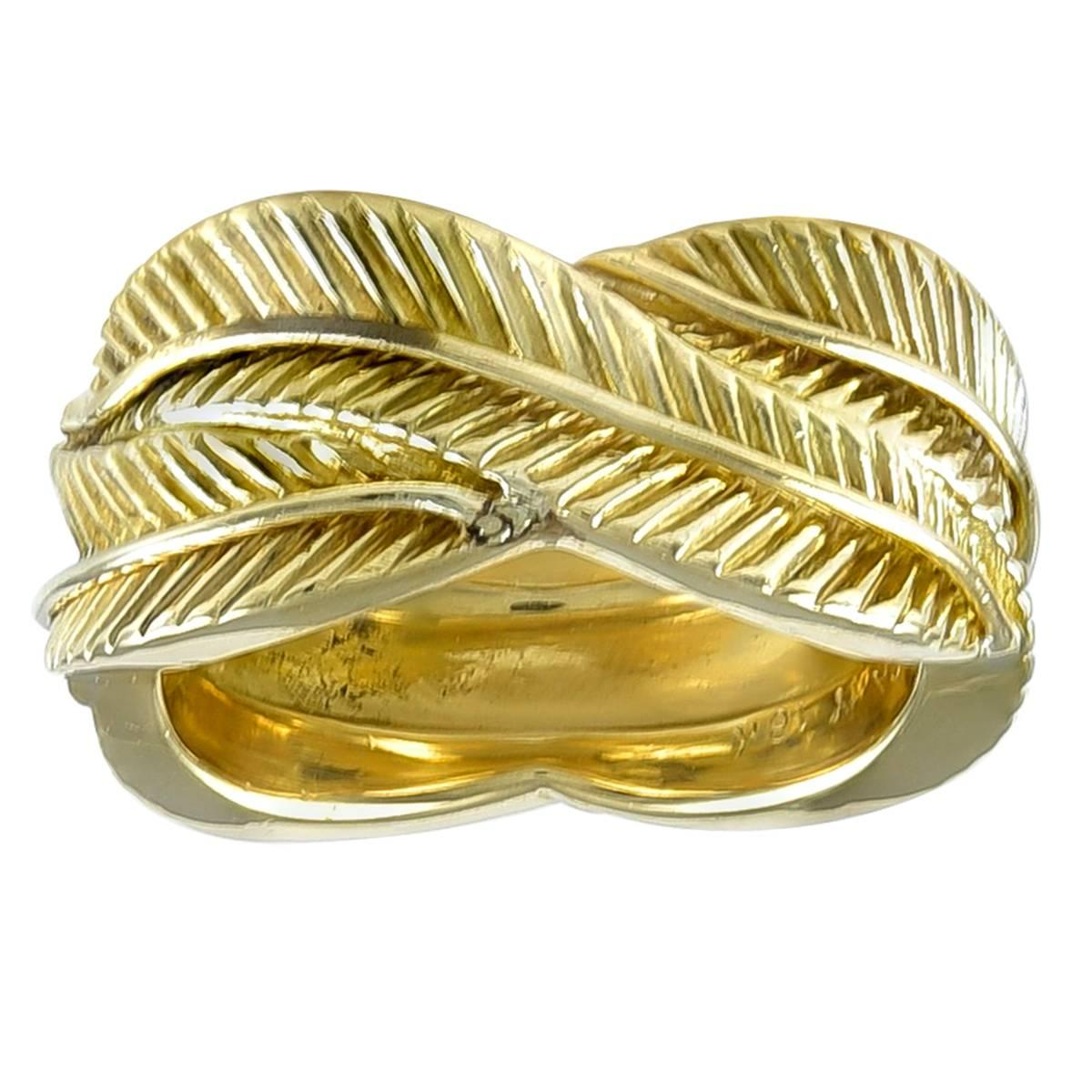 Van Cleef & Arpels Wide Gold Eternity Band Ring