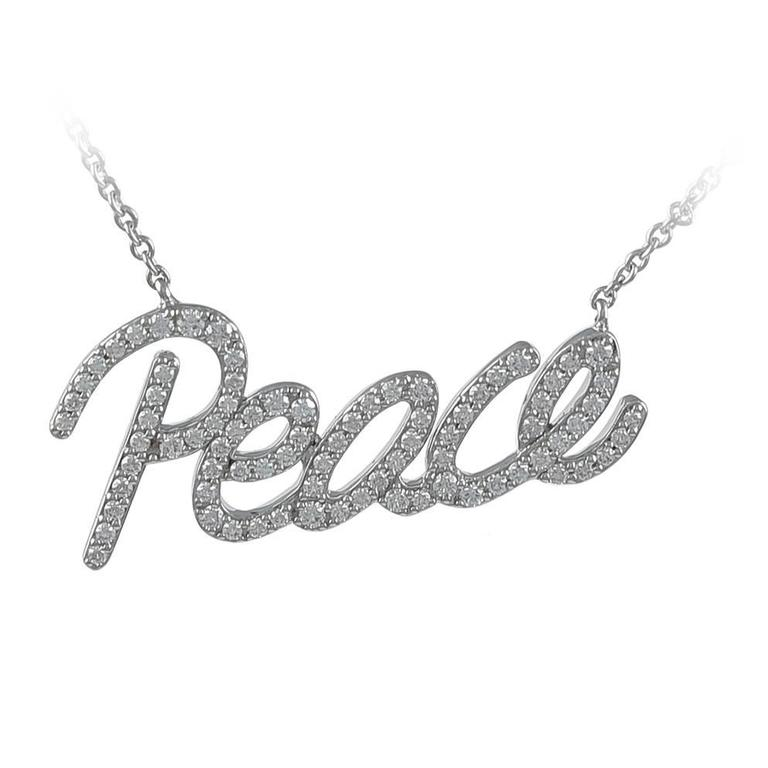 9d51a2ed4 Tiffany and Co. Paloma Picasso Diamond Gold Peace Necklace For Sale ...