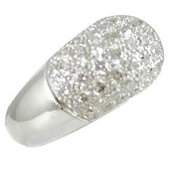 Stunning Diamond Gold Dome Band Ring