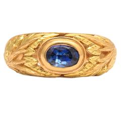 Sapphire Two-Color Gold Ring