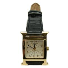 Hermes Ladies Yellow Gold Heure H Quartz Wristwatch
