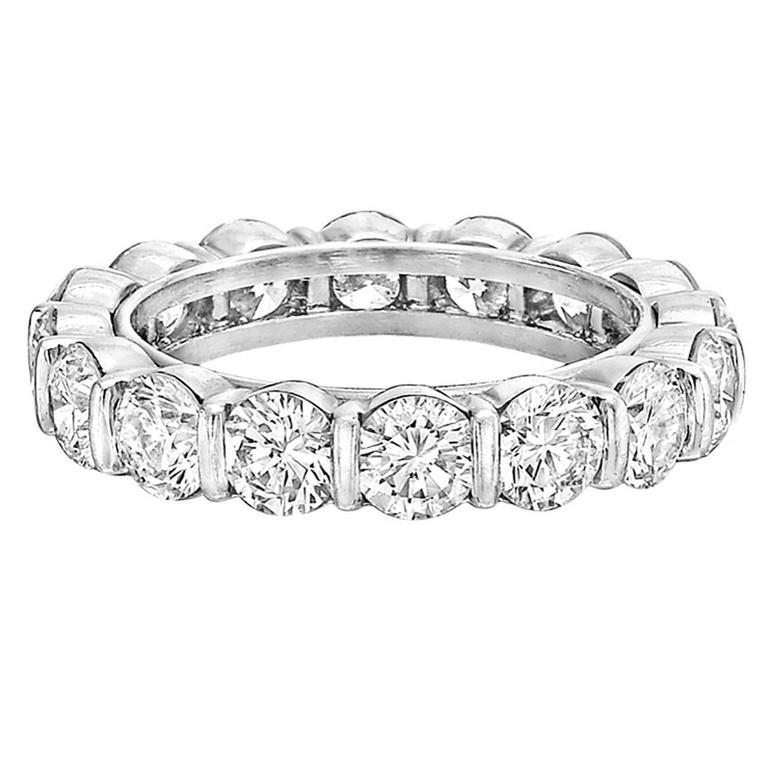 58a50eb6fd8 Tiffany   Co. Round Brilliant Diamond Platinum Eternity Band For Sale