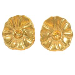 LaLaounis Large Gold Earclips