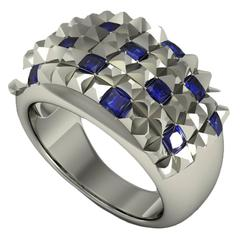 Barbara Nanning and Sparkles Sapphire Gold Ring