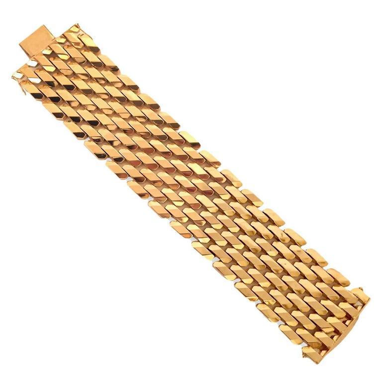 Retro Gold Mod Link Bracelet