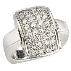1950s Mellerio Diamond Gold Reversible Ring
