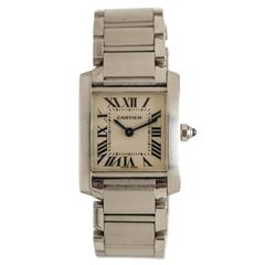 Cartier Lady's Stainless Steel Tank Francaise Wristwatch