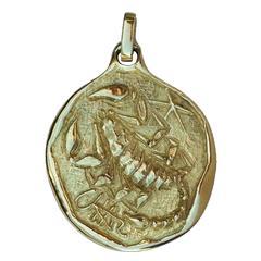 Bottega Mortet Roma Gold Scorpio Pendant