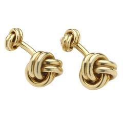 Cartier Gold Knot Cufflinks