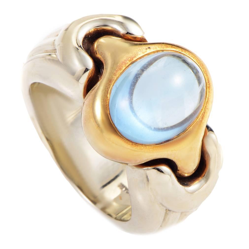 bulgari topaz multicolor gold ring at 1stdibs