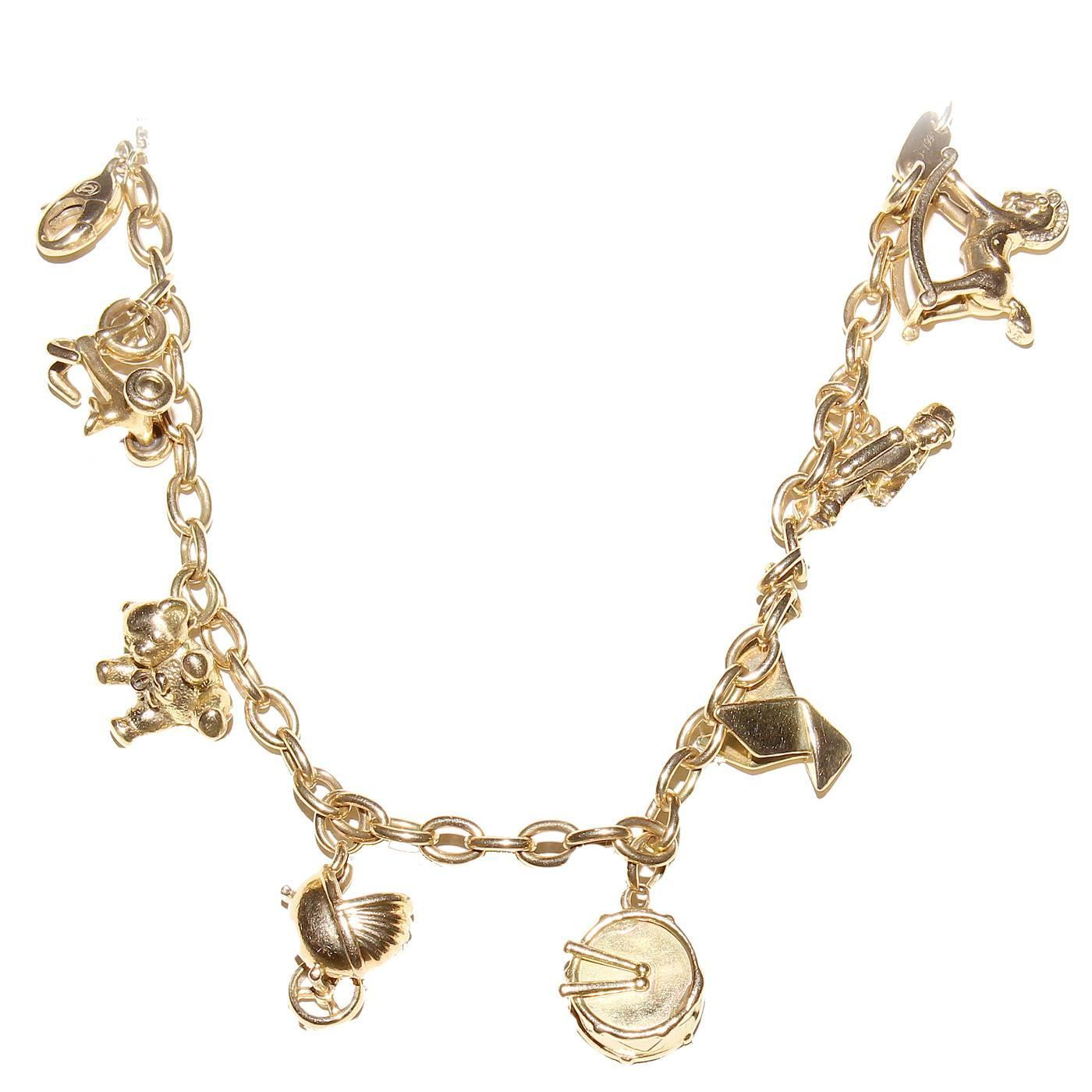 Cartier Gold Charm Bracelet at 1stdibs