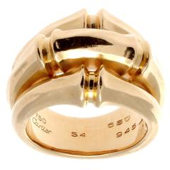 Cartier Large Gold Bamboo Ring