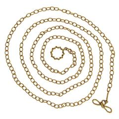 36 Inch Gold Oval Link Chain Necklace