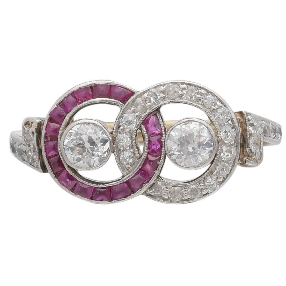 antique ruby and circle ring at 1stdibs