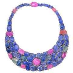 775 Carat Sapphire and Diamond Necklace