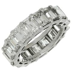 GRAFF Shared Setting Diamond Platinum Eternity Band Ring Size 51
