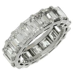 Graff Shared Setting Diamond Platinum Eternity Band Ring