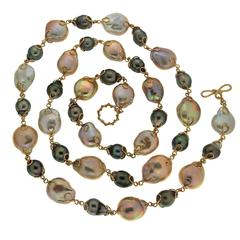 Valentin Magro Baroque Toast Fresh Water and Tahitian Pearl Necklace