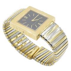 Bulgari Yellow Gold Stainless Steel Squadra Tubogas Quartz Wristwatch