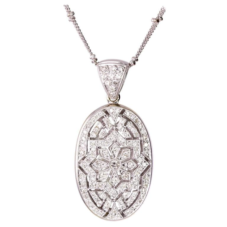 Diamond Pendant Necklace For Sale
