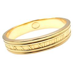 Tiffany & Co. Atlas Gold Bangle Bracelet
