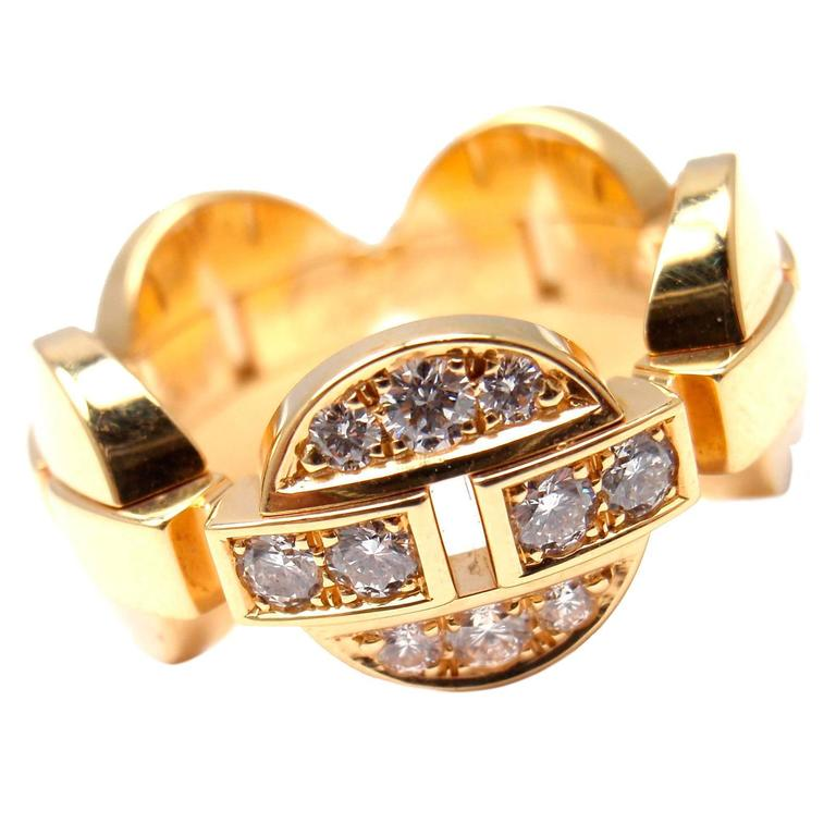 Cartier Himalia Diamond Gold Band Ring For Sale