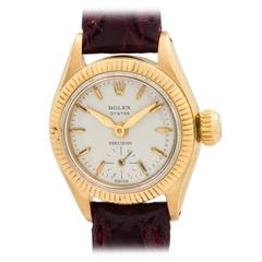 Rolex Lady's Yellow Gold Oyster Precision Wristwatch