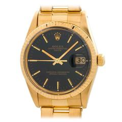 Rolex Yellow Gold Oyster Perpetual Date Wristwatch Ref 15038