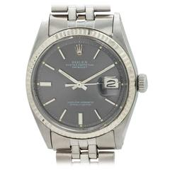 Rolex Stainless Steel Oyster Perpetual Datejust Wristwatch Ref 1601