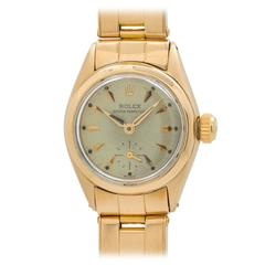 Rolex Lady's Yellow Gold Oyster Perpetual Wristwatch Ref 6502
